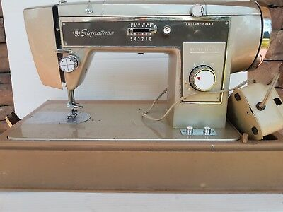 RARE MONTGOMERY WARD Sewing Machineworkingheavy Duty Vintage Extraordinary Vintage Signature Sewing Machine