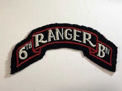 WWII Patch 6th Ranger Battalion Felt Cabanatuan POW Raid Japan Leyte Pacific e3