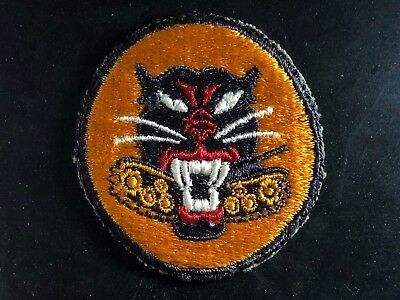 WWII Patch US Army Tank Destroyer Black cut edge OD back 8 Wheels Black Panther