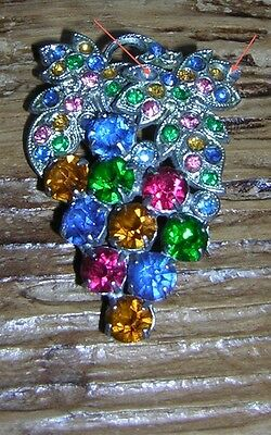 Antique Vintage Bunch of Grapes Brooch