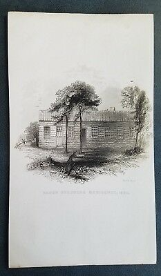 ORIG 1850s Litho Print by R.H. Pease - Baron Steubens Residence in 1802 New York