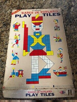 Walt Disney's Babes in Toyland Play Tiles by Halsam Game Toy RARE VINTAGE item