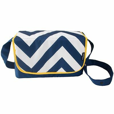 My Babiie Baby Changing Bag / Mat For Stroller / Pram / Pushchair Blue Chevron