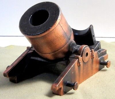 Cannon,miniature Civil War Repro,  All Metal, Barrel Swings Up And Down On Base