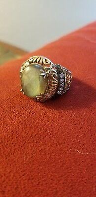 Vintage Filigree Labrodite Ring