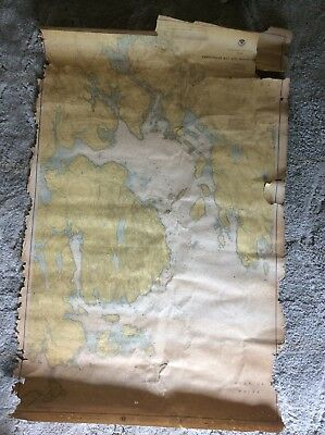 1976 Map Of Frenchman Bay And Mount Desert Island
