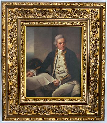 Captain James Cook Framed Oleograph R590#E  - Reproduction Picture