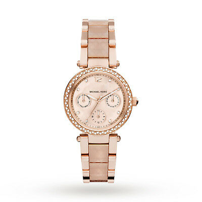 Michael Kors MK6574 Mini Parker Rose Gold Blush Wrist Watch for Women