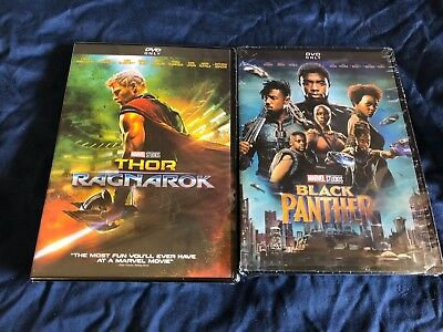 Thor: Ragnarok + Black Panther DVD New Bundle Marvel Movies Sealed