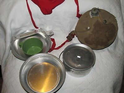 Vintage Boy Scouts of America Aluminum Canteen & Regal Cooking Equipment