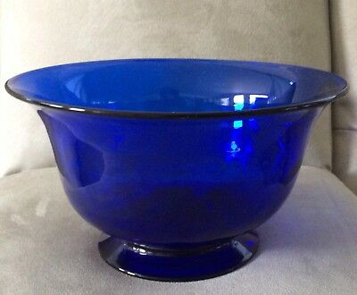 Vintage Hand Blown COBALT BLUE Crystal 34% Lead Signed Pairpoint Cape Cod, Ma