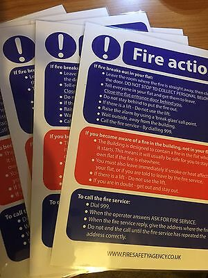 Stay Put Fire Policy - Fire Action Notice Laminated A5 Sign X 1