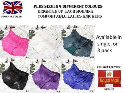 Ladies Plus size knickers Womens plus size knickers 9 different colours