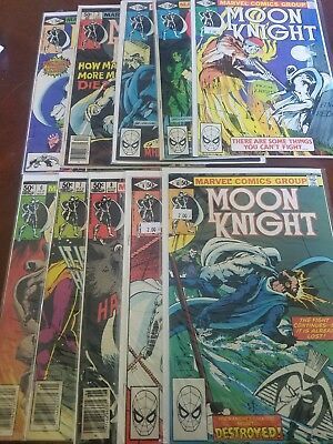 MOON KNIGHT VOL.1   Complete Run 1-10 MARVEL FIRST SERIES VERY HOT SERIES