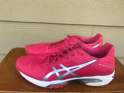 Asics Solution Speed 3 Women's Tennis Shoes Red/Silver Size 9.5