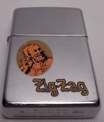 Vintage Zippo Lighter Zig Zag James With Cross Bones And Skull