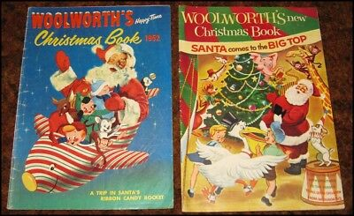 WOOLWORTH'S CHRISTMAS BOOK ~ 2 Issues ~ 1952 & 1954 PAINTED COVERS!