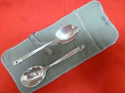 International Sterling-Royal Danish-Excellent Suger & Jelly Serving Spoons