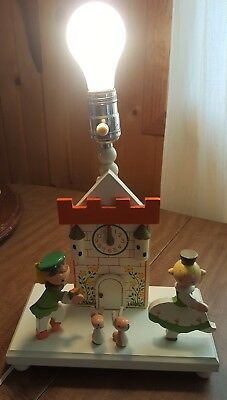 Vintage Imri Nursery Plastics Lamp With Nightlight Cinderella Works!! Nr!!