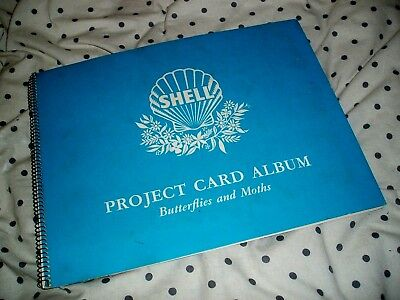Shell Project Card Album Butterflies And Moths 181 To 240  V. Good Condition