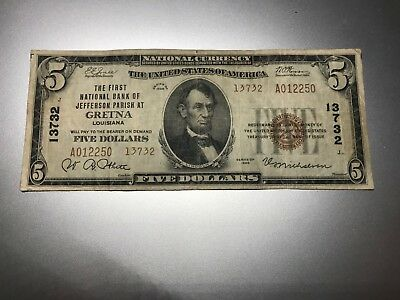 Gretna, Louisiana National Bank Note. Charter 13732