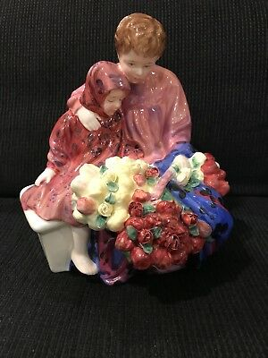 VINTAGE ROYAL DOULTON Flower Seller's Children PORCELAIN MINT HN 1342