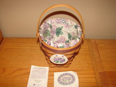 Longaberger May Series 1994 Lilac Basket Super Combo