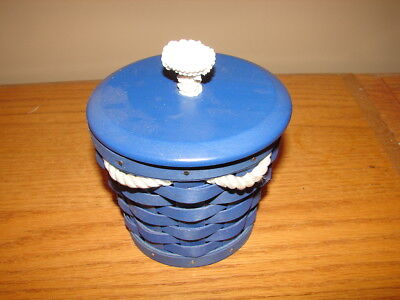 Longaberger 2009 Blue Small Pail Basket Super with Lid