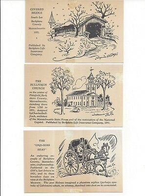 Berkshire Life Insurance Co., Pittsfield, MA 100th Anniversary Postcards