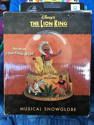 "Disney's THE LION KING MUSICAL SNOWGLOBE ""The Circle of Life"""