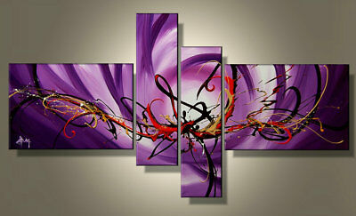 Large Modern Abstract Oil Painting on Canvas Contemporary Wall Art Framed Abs71