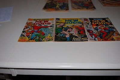 New Gods Comic Books #8, #9,#10 Complete  In Very Fine Condition From 1972