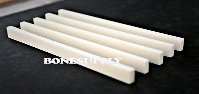 Top 10pcs water buffalo bone saddles blanks size 85 x 10 x 2.5mm grade AAA