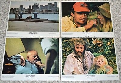 CLAY PIGEON 1971 ORIG. 11x14 LOBBY CARD SET! ROBERT VAUGHN & TELLY SAVALAS CRIME