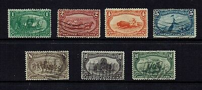 USA  1898 TRANS - MISSISSIPPI EXPOSITION TO 50c....7 STAMPS