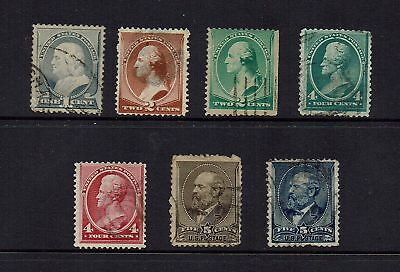 Usa   1882 Series  7 Stamps ....( 2 Scans )