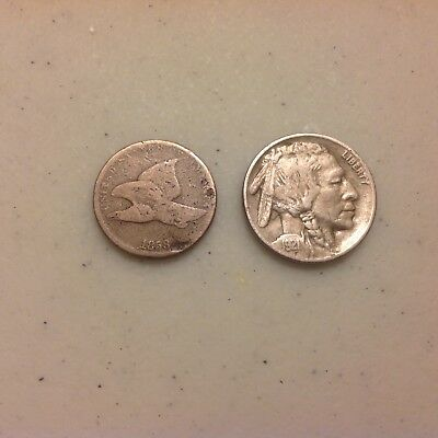1858 Flying Cent and 1921 Buffalo Nickel !!!