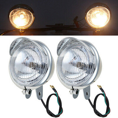 Chrome Passing Fog Lights Fit Yamaha V-Star XVS 950 1100 1300 Classic Stryker