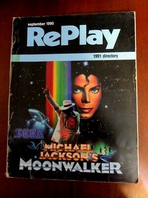 MICHAEL JACKSON COVER MOONWALKER RePlay Magazine Directory Coin-Op Industry 1990
