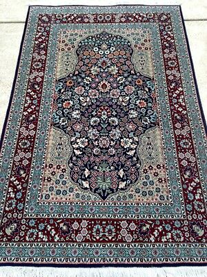 Antique Turkish Hereke Tree Of Life Design Rug HandKnotted 4'X6'