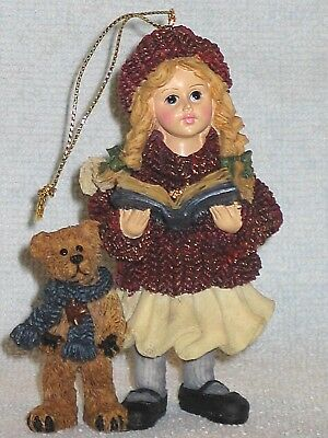 Boyds Yesterday's Child MEGAN w/ELLIOT & ANNIE CHRISTMAS CAROL Ornament 1995~NEW