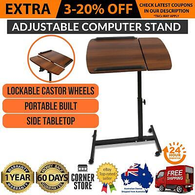 Adjustable Portable Folding Laptop Desk Computer Table Stand Tray For Bed Sofa -