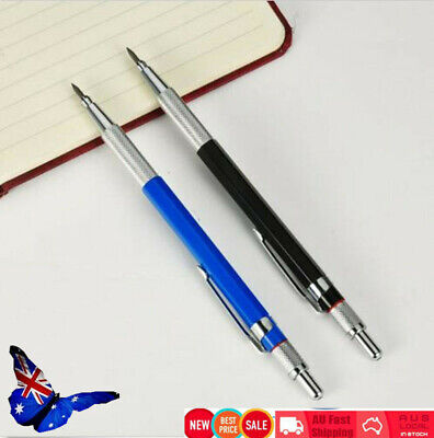 2pcs Technico 2.0MM Lead holder Mechanical Clutch Pencil + 24x 2B Graphite Leads