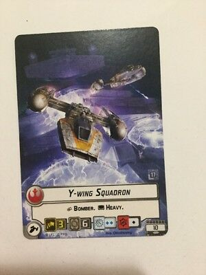 Star Wars Armada Rebel Y Wing Squadron Card