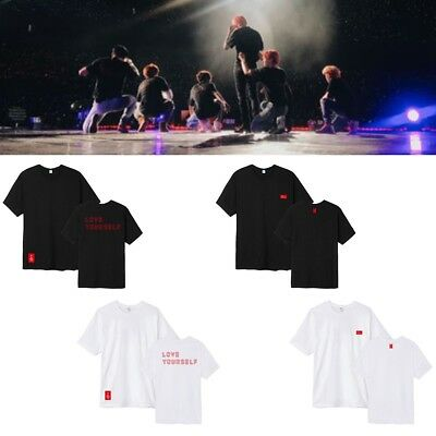 Kpop BTS Bangtan Boys LOVE YOURSELF T-shirt World Tour Konzert Tops Unisex Tee