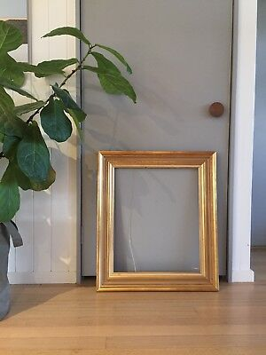 Large Vintage Wooden Gold Picture Or Mirror Frame Antique Style wedding decor