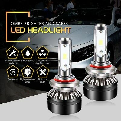 HB3 9005 LED Headlight Bulbs High Beam 6500K 6000LM Cool White SEOUL Chips