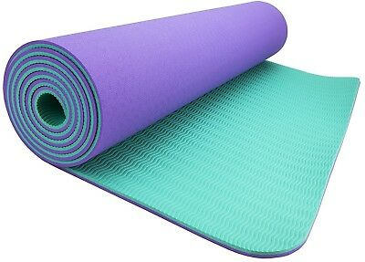 (Lilac - Turquoise) - Wacces High-Density Anti-Tear Non-Slip Double-Sided YOGA