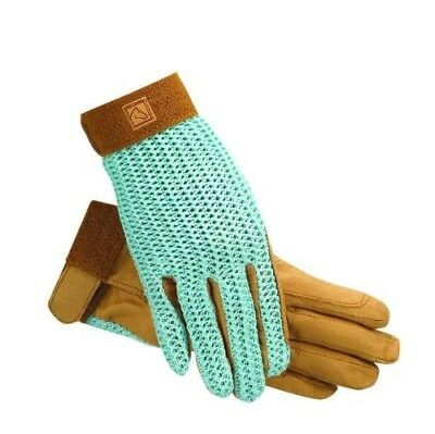 (9, Lt Blue) - SSG Lycrochet Ultraflex Gloves. Huge Saving