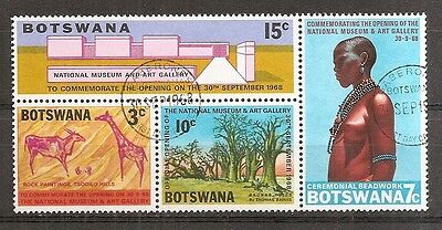 Botswana - 1968 Opening of the National Museum & Art Gallery - Fine Used Sheet
